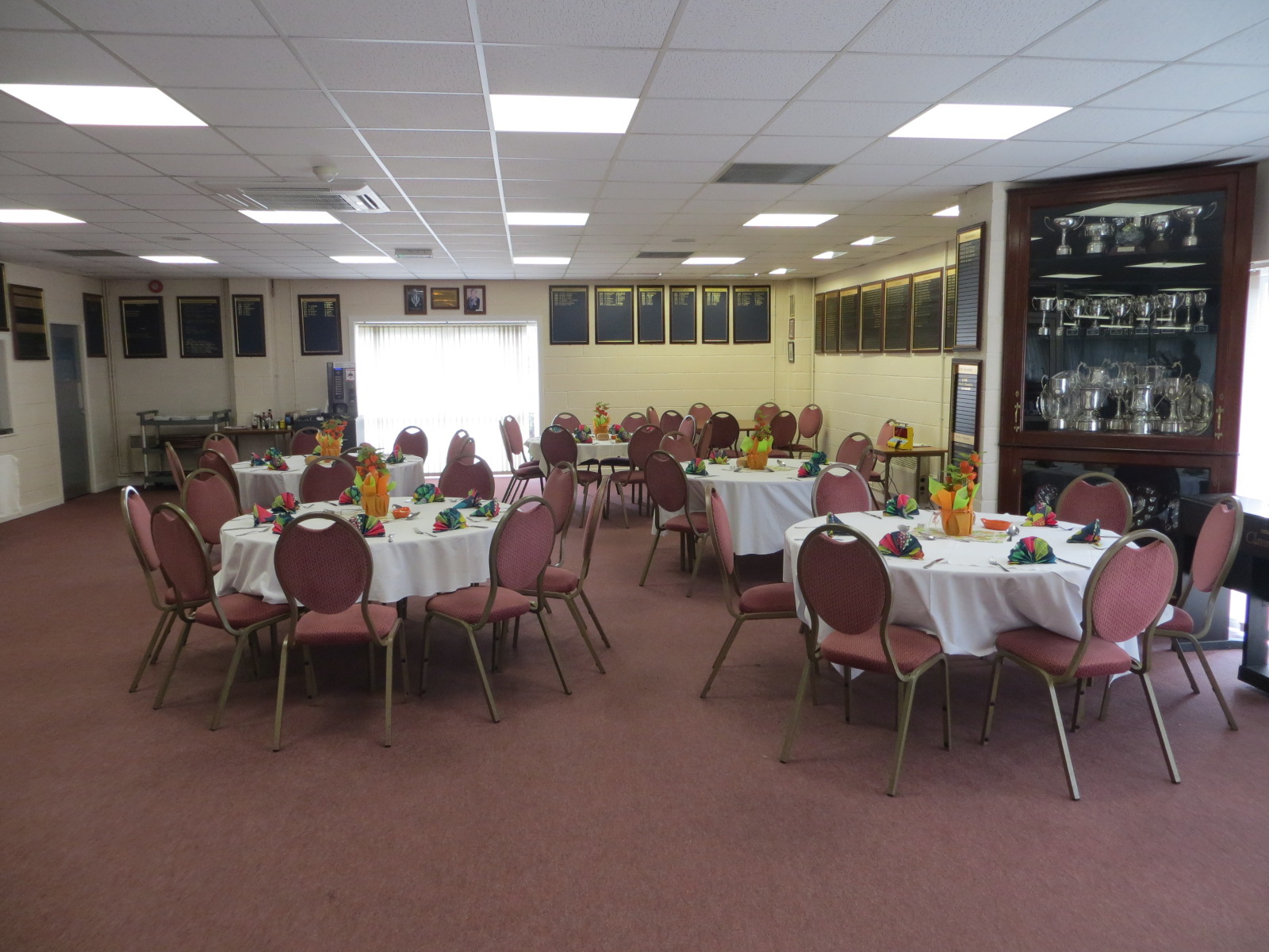 Restaurant at the North Wilts Bowls Club